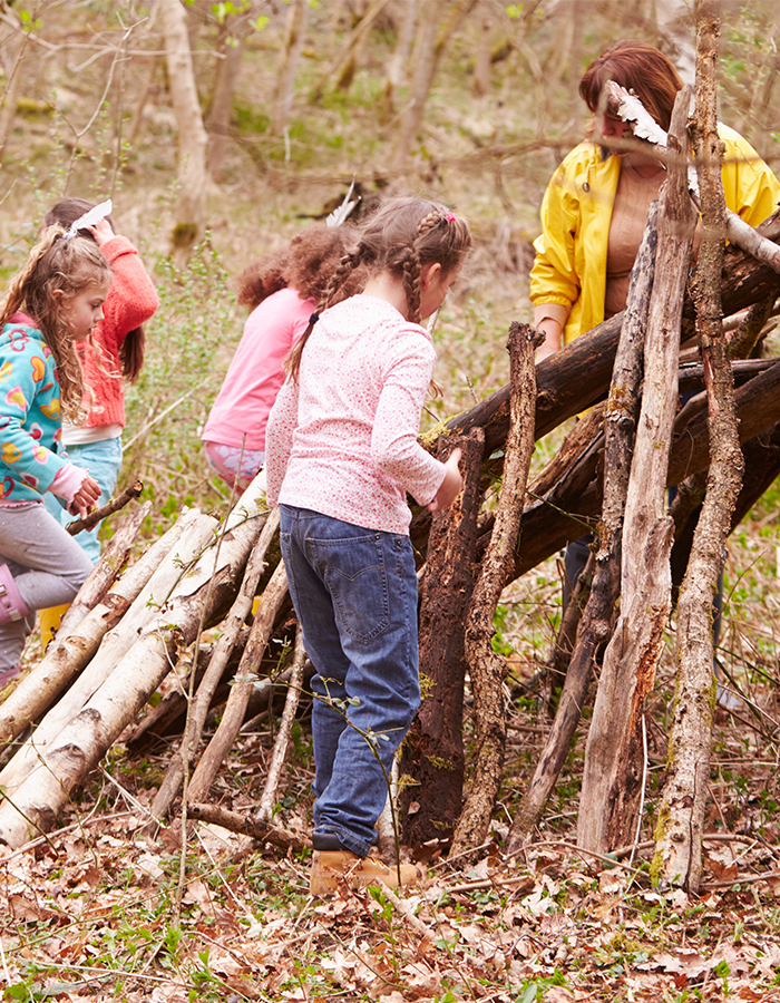 Urban Green Design Building an outdoor den for chil outdoor learning and play